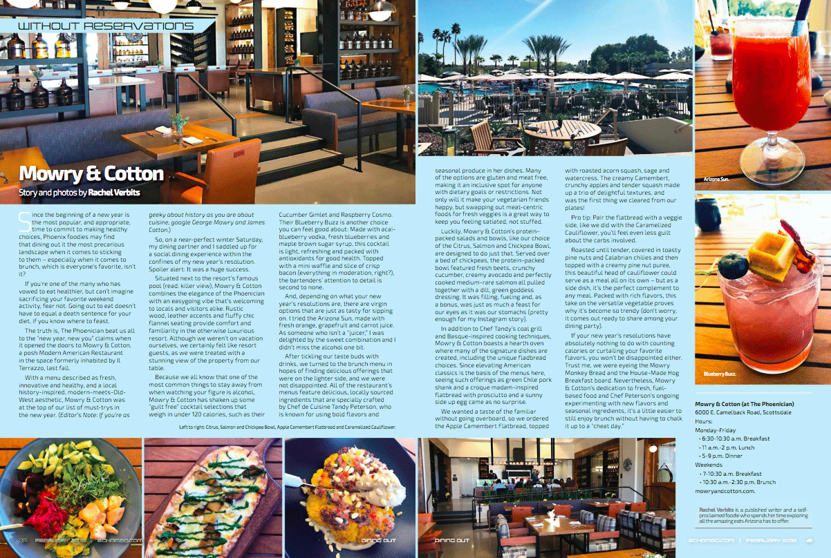 Echo Mag Dining Review